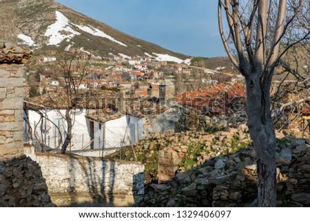 Derekoy village abandoned old stone homes in Gokceada Turkey. Stock fotó ©