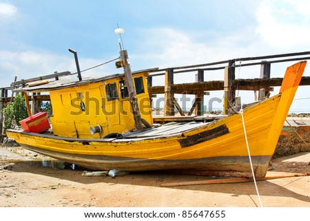 Derelict Fishing Boat  Malaysia