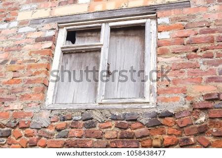 Derelict window frame  #1058438477