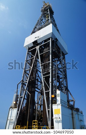 Derick of jack up drilling rig