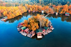 Derito lake in tata city Hungary. This is an unique view fishing lake amazing lights all day. fantastic nature area.