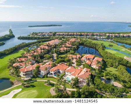 Derring Bay Aerial Photos,   High quality aerials shots of community with an attractive golf camp in Miami Florida.  #1481124545