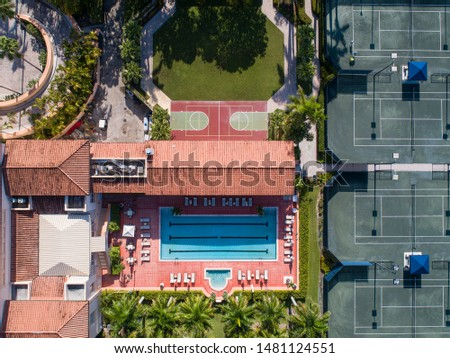 Derring Bay Aerial Photos,   High quality aerials shots of community with an attractive golf camp in Miami Florida.  #1481124551