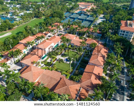 Derring Bay Aerial Photos,   High quality aerials shots of community with an attractive golf camp in Miami Florida.  #1481124560