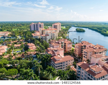 Derring Bay Aerial Photos,   High quality aerials shots of community with an attractive golf camp in Miami Florida.  #1481124566