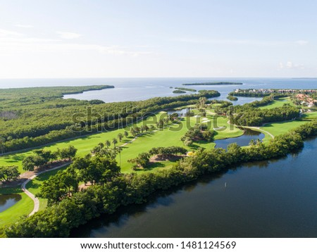 Derring Bay Aerial Photos,   High quality aerials shots of community with an attractive golf camp in Miami Florida.  #1481124569