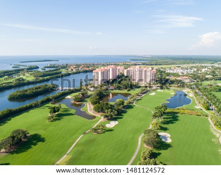 Derring Bay Aerial Photos,   High quality aerials shots of community with an attractive golf camp in Miami Florida.  #1481124572