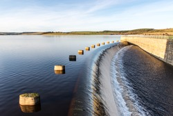 Derwent Reservoir bordering County Durham and Northumberland
