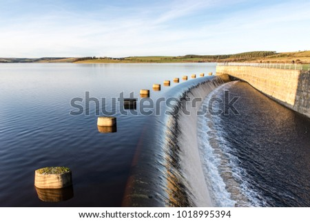 Photo of  Derwent Reservoir bordering County Durham and Northumberland