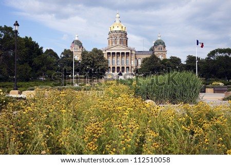 Des Moines, Iowa - entrance to State Capitol Building