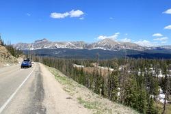 Descending into Duchesne county from Bald Mountain Pass, Uinta Mountains, Utah