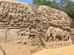 Descent of the ganges at Mahabalipuram, Tamil nadu