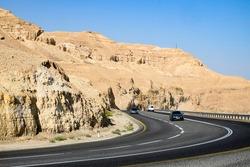 Descent through the mountains to the Dead Sea