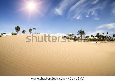 Desert dunes hotel. Maspalomas, Canary Islands, Canaries, Grand Canary