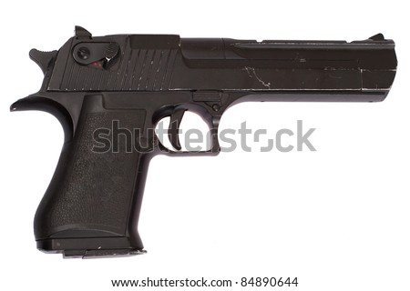 desert eagle handgun pistol isolated on a white background