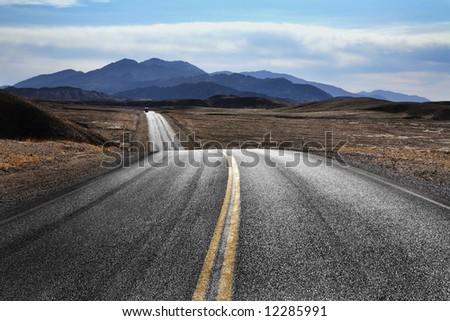 Desert Highway, Death Valley National Park, California