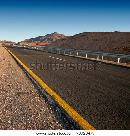 Desert highway  (Israel - Judean desert)
