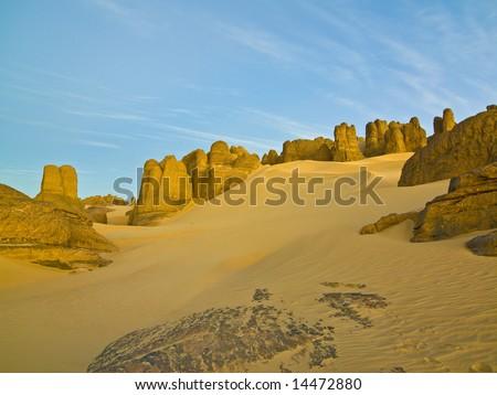 Desert in the algerian sahara