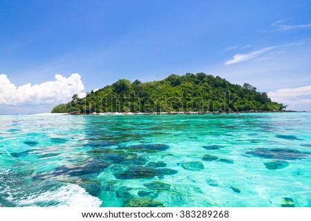 Desert Island Blue Paradise  #383289268