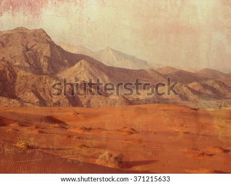 desert landscape in dubai  ...