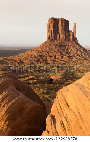 desert landscape in Monument Valley in Utah in the United States of America