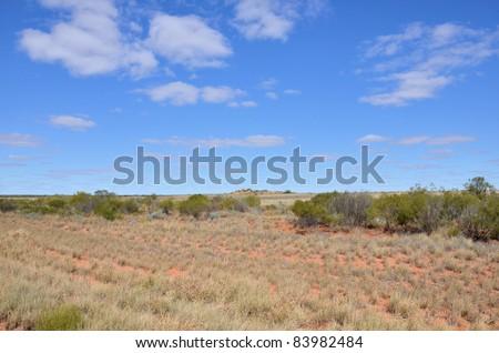 Desert Landscape in the Australia Red Centre