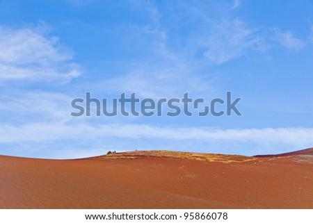 desert landscape in volcanic area of Timanfaya