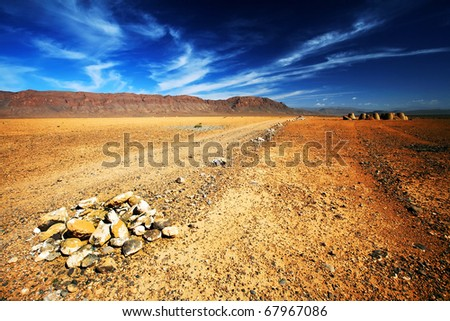 Desert landscape, Middle Atlas Mountains, Morocco