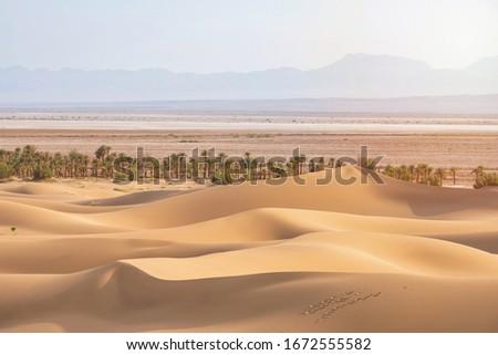 Desert Landscape of Dasht-e-Lut, Lut desert in Iran the hottest desert in the world, also known as the Kalut Desert