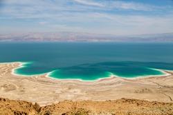Desert landscape of Israel, Dead Sea, Jordan