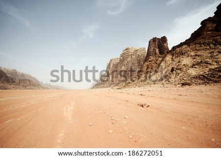 Desert landscape - Wadi Rum, Jordan #186272051