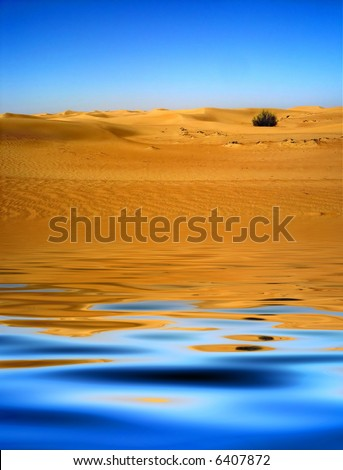 Desert Mirage - stock photo