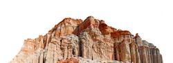 Desert mountain isolated on white background