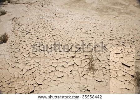 desert of Bardenas Reales at navarra in spain - stock photo