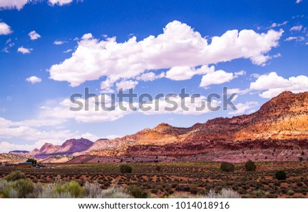 Desert picturesque Arizona and rural life of the Navajo