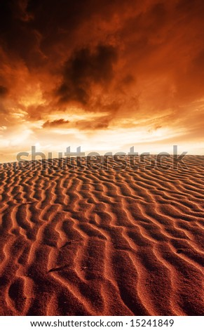 Desert Ripples and Stunning Sunset
