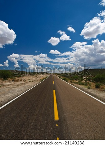 Desert road - Baja California - Mexico