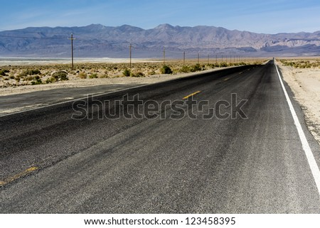 desert road/ the road to death valley, california
