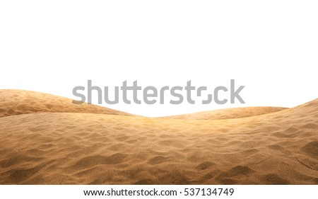 Desert sand isolated on white background