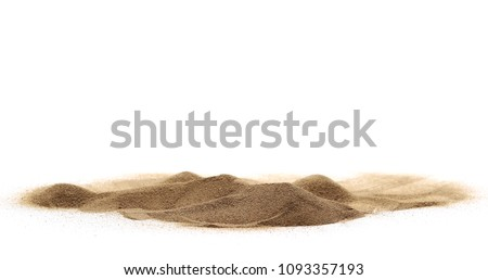 Desert sand isolated on white background and texture, with clipping path #1093357193