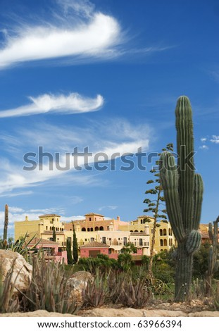 Desert Springs Golf Course, near Mojacar, Almeria, Andalusia, Spain - stock photo