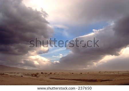 Desert storm approaches in Death Valley