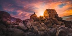 Desert Summer Sunset - Joshua Tree Boulders