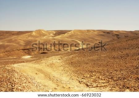 desert trail - stock photo