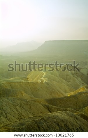 desert valley in the Negev, Israel