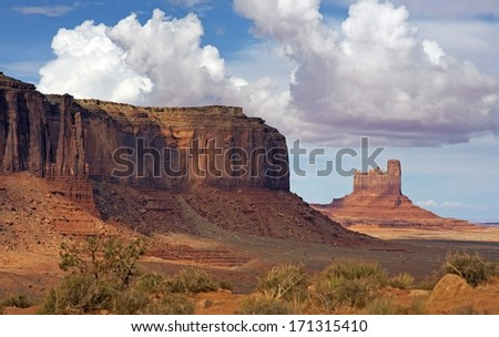 Desert Valley of Arizona. Monuments Valley Landscape. Arizona, United States.
