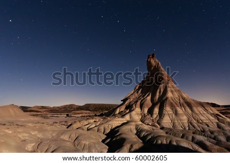 Desert whose vegetation and rocky formations created by erosion are unique in Europe.