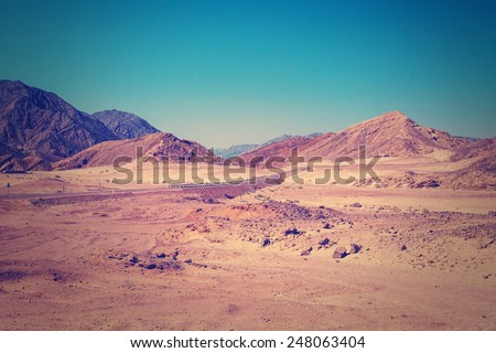 desert with mountains. egypt.