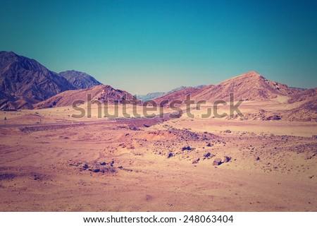 Desert with mountains. Egypt.
