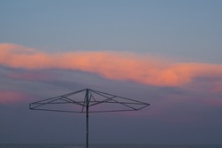 deserted beach during quarantine, sunset